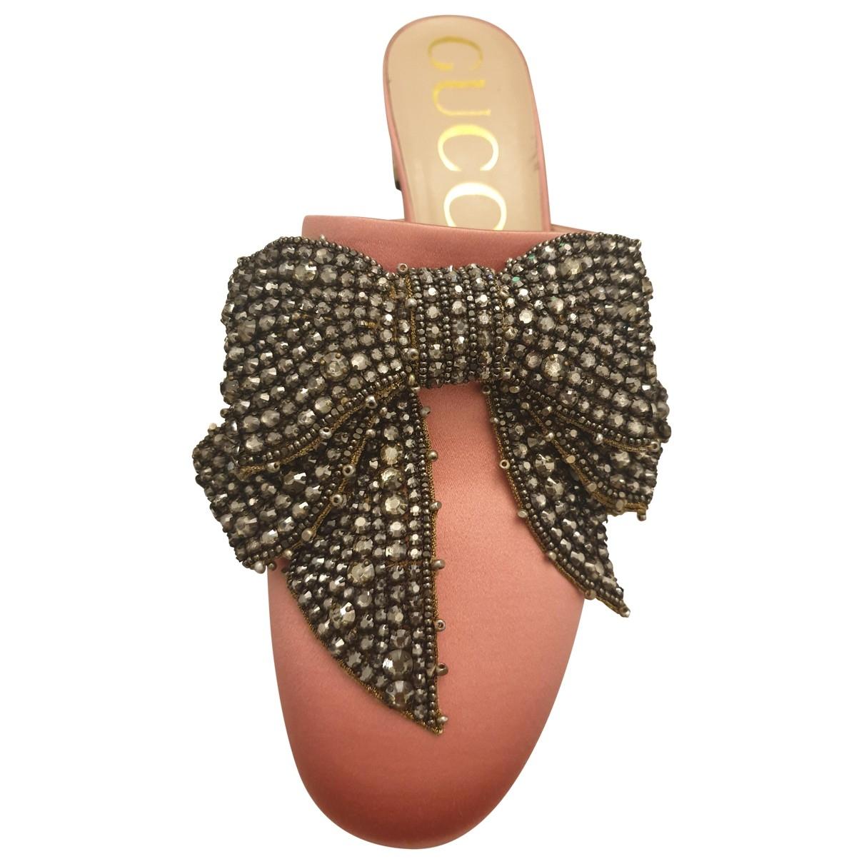 Gucci \N Pink Cloth Flats for Women 40 EU