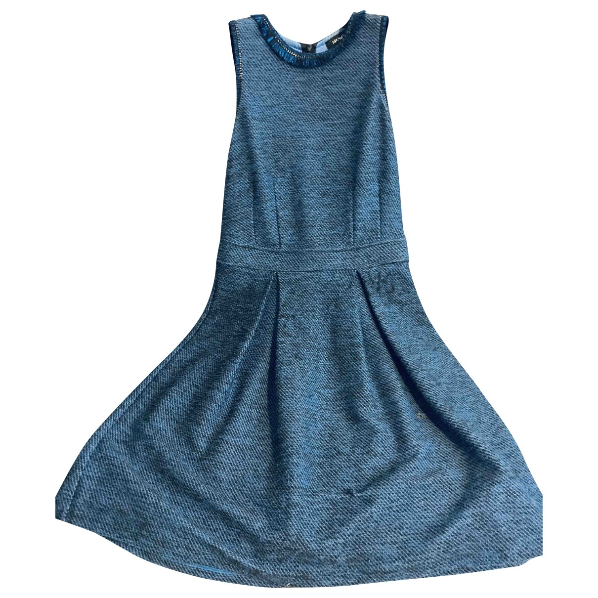 Max & Co \N Kleid in  Blau Tweed
