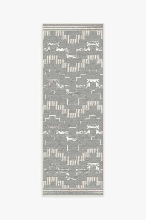 Washable Rug Cover & Pad | Outdoor Meseta Grey Rug | Stain-Resistant | Ruggable | 2.5x7