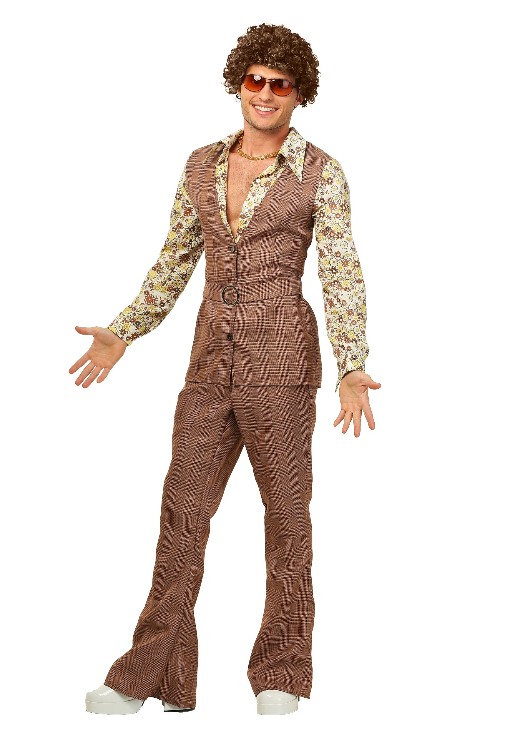70's Brown Disco Suit Costume for Men