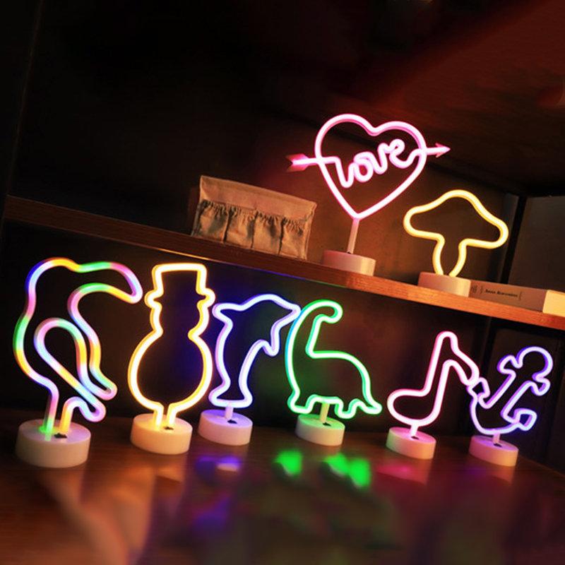 Rainbow Led Neon Night Light Sign Holiday Xmas Party Wedding Decorations Kids Room Home Decor