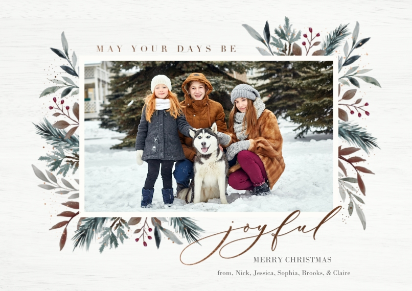 Christmas Photo Cards 5x7 Cards, Premium Cardstock 120lb, Card & Stationery -Frost Forest