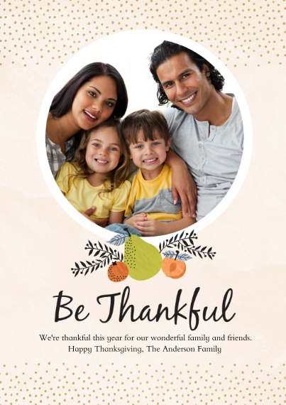 Thanksgiving Photo Cards Mail-for-Me Premium 5x7 Flat Card, Card & Stationery -Table Setting
