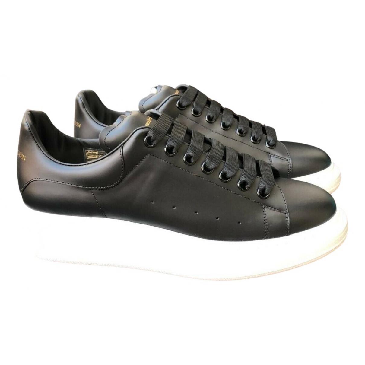 Alexander Mcqueen Oversize Sneakers in  Schwarz Leder