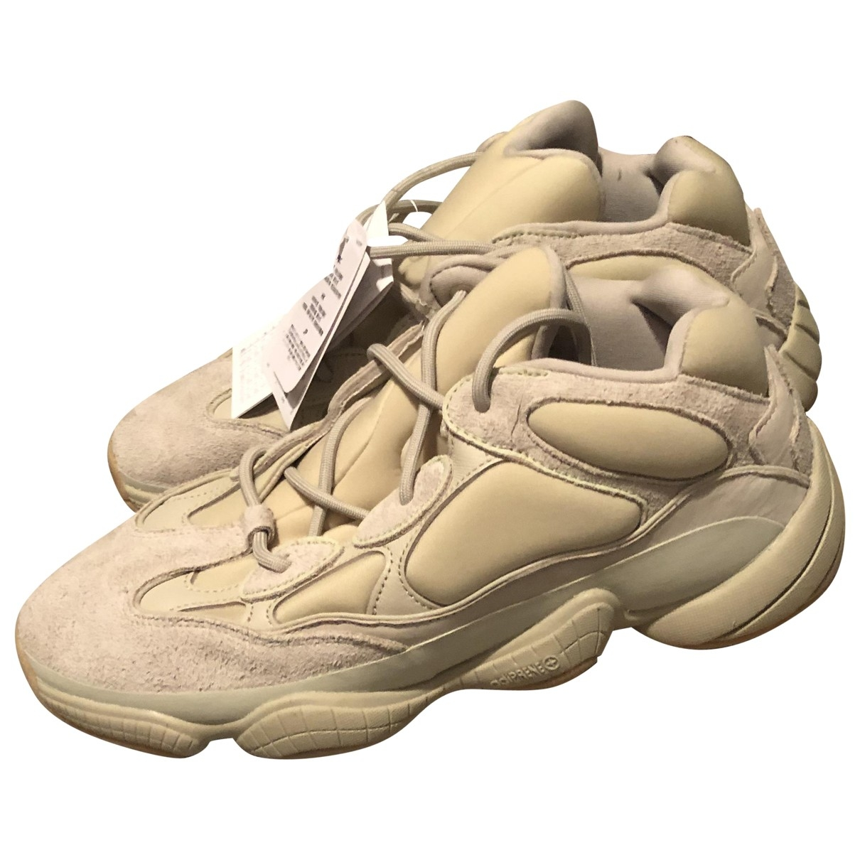 Yeezy X Adidas - Baskets 500 pour homme en cuir - beige