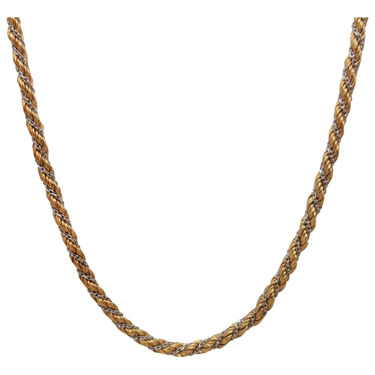 Non Signe / Unsigned Chaines Kette in  Gelb Gelbgold