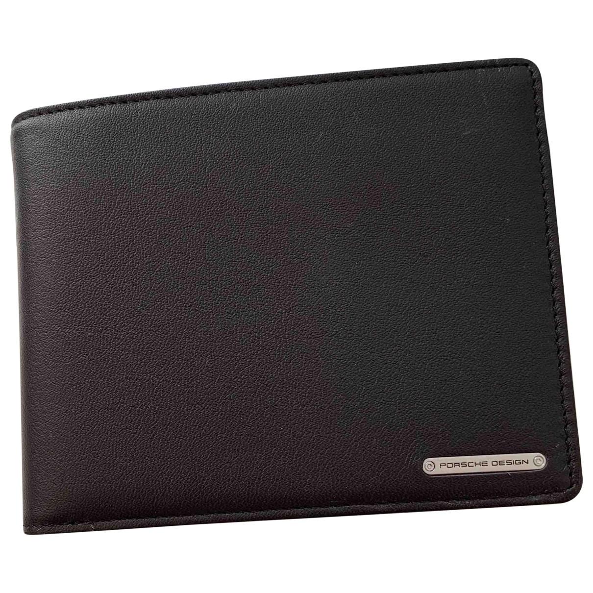 Porsche Design \N Black Leather Small bag, wallet & cases for Men \N