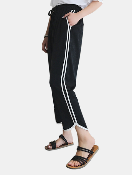 Yoins Active High Waisted Pants in Black