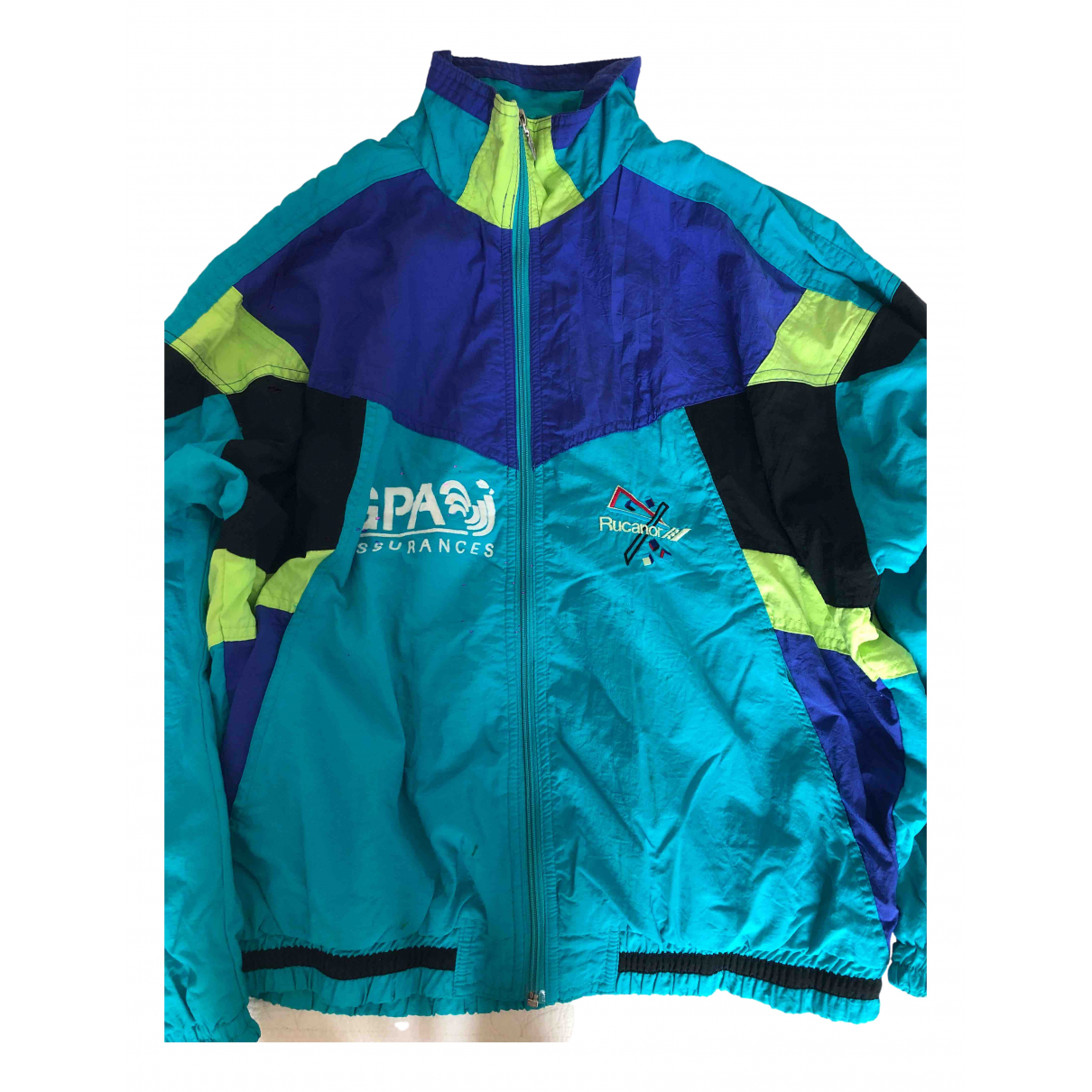 Non Signé / Unsigned Oversize Turquoise jacket for Women 42 FR