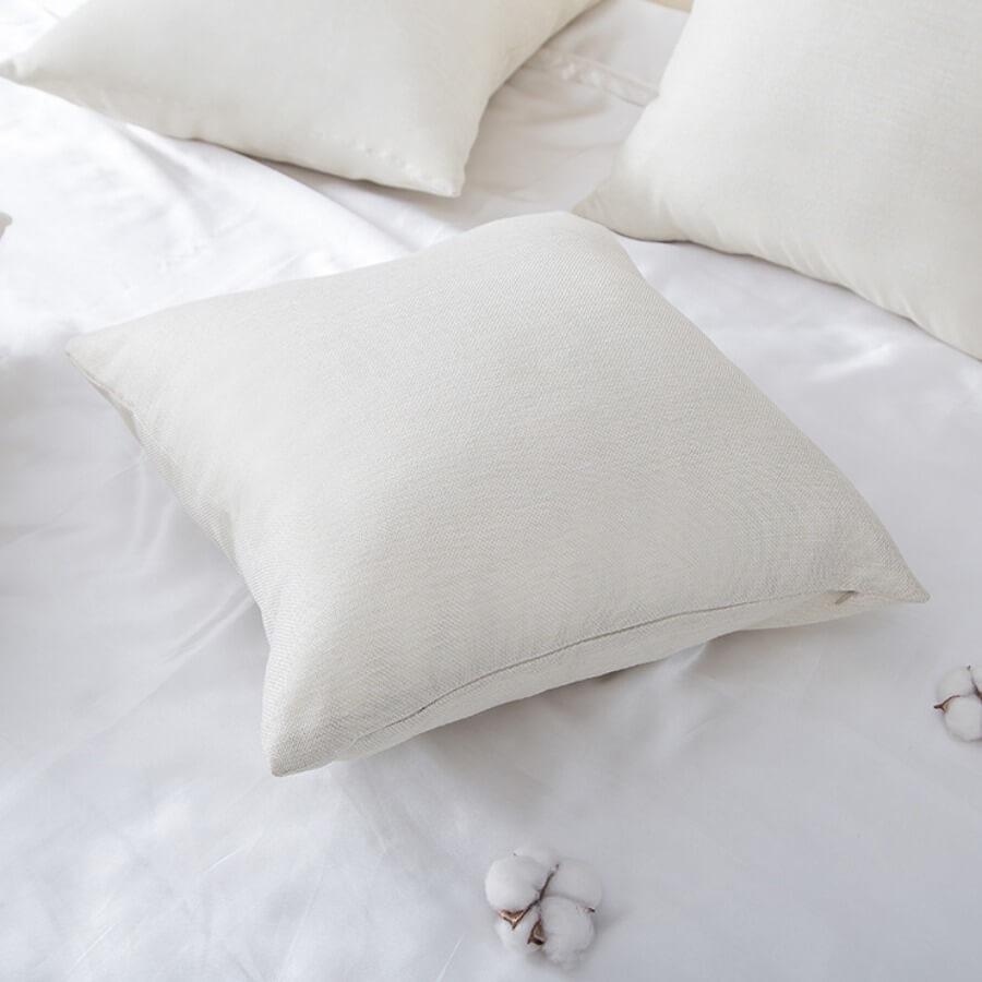 LW Lovely Cosy Basic White Decorative Pillow Case