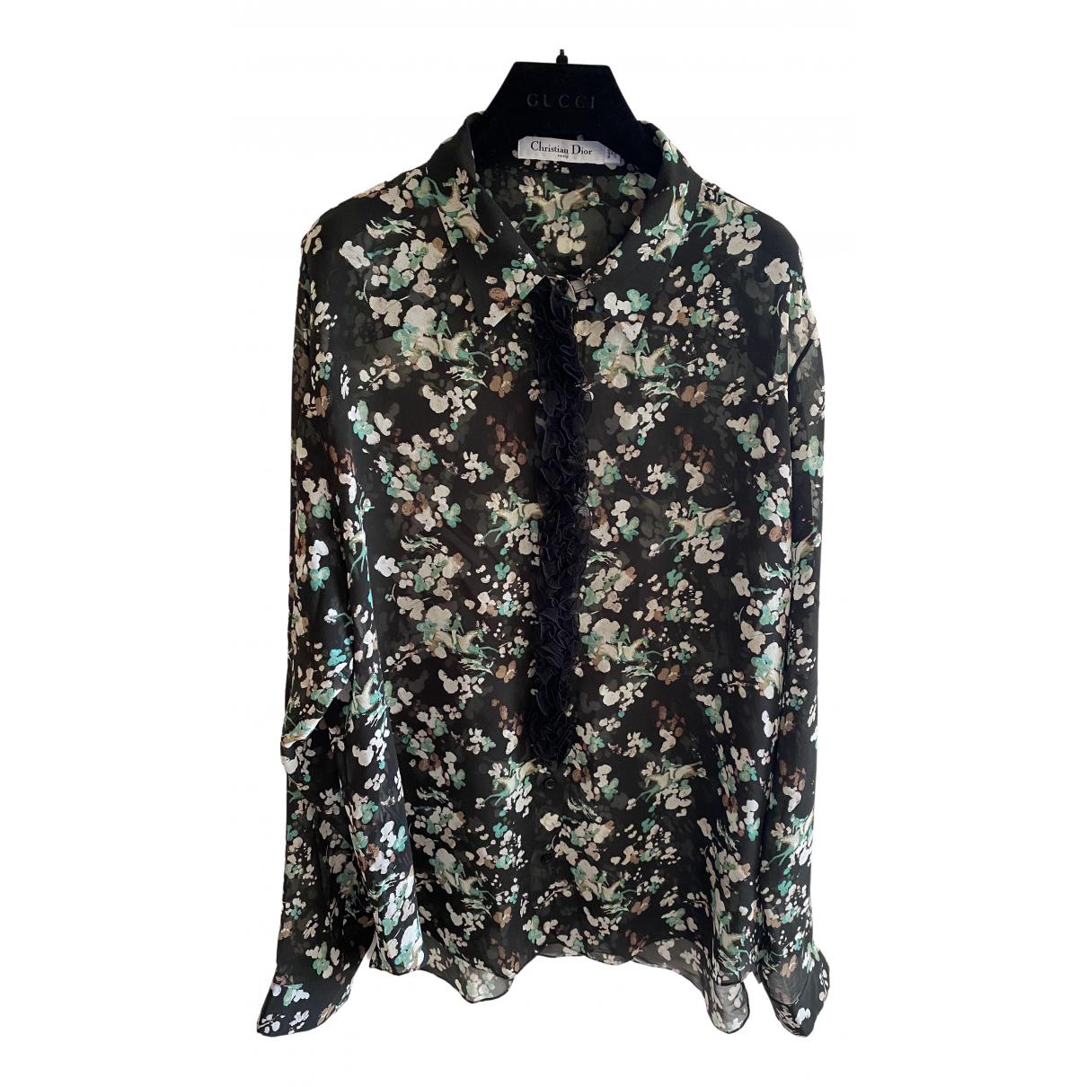 Dior - Top   pour femme en soie - multicolore
