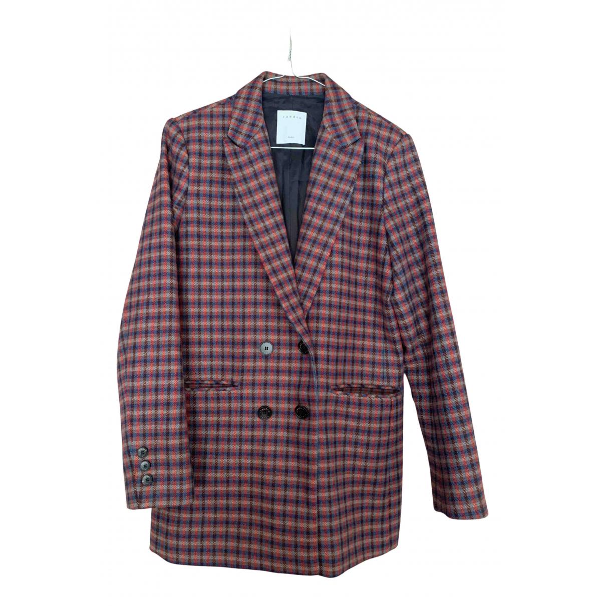 Sandro Fall Winter 2019 Multicolour Wool jacket for Women 36 FR