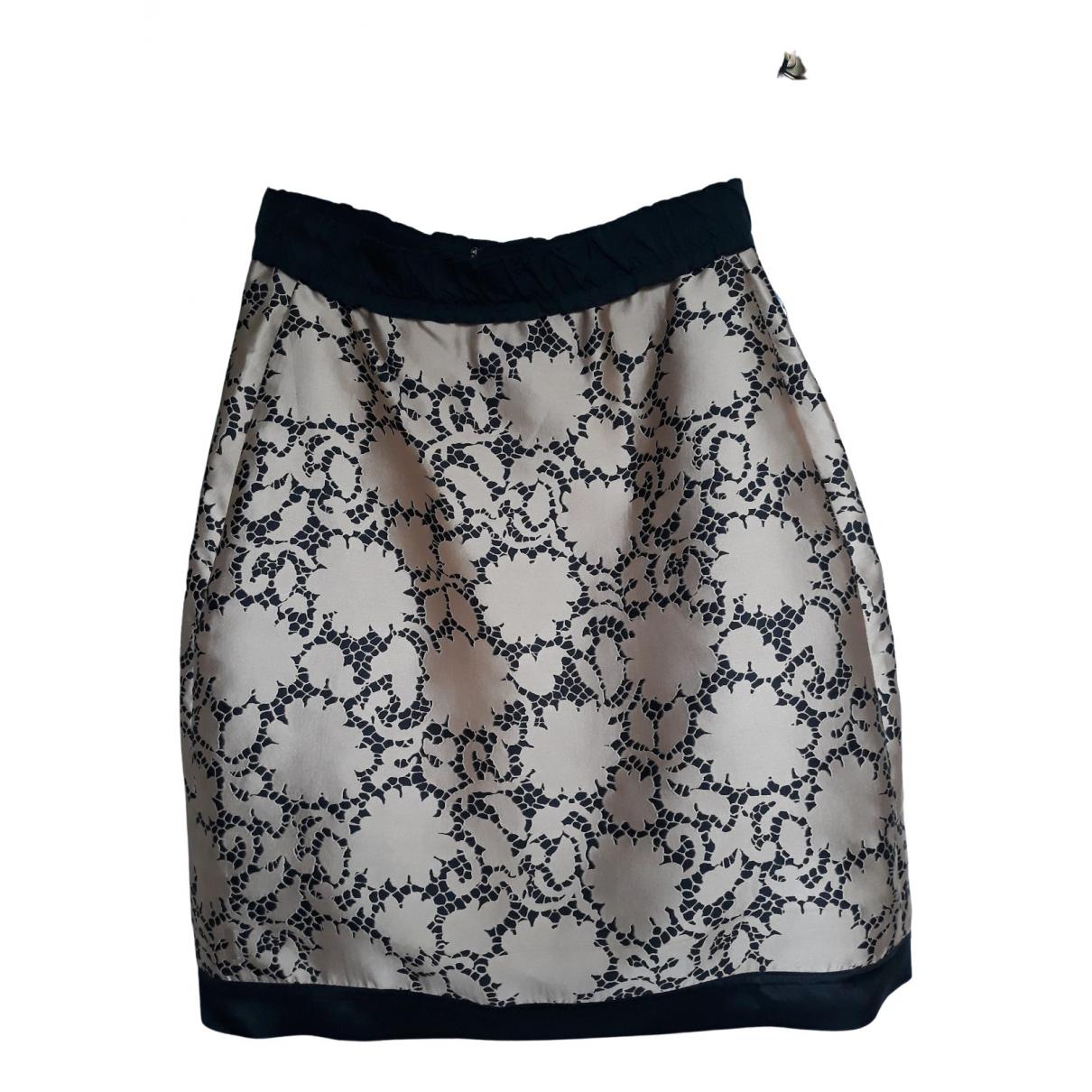 Louis Vuitton - Jupe   pour femme en soie - dore