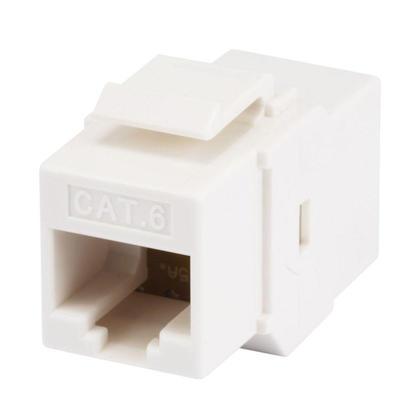Coupleur Cat6 en ligne type jack Keystone - blanc - Monoprice®