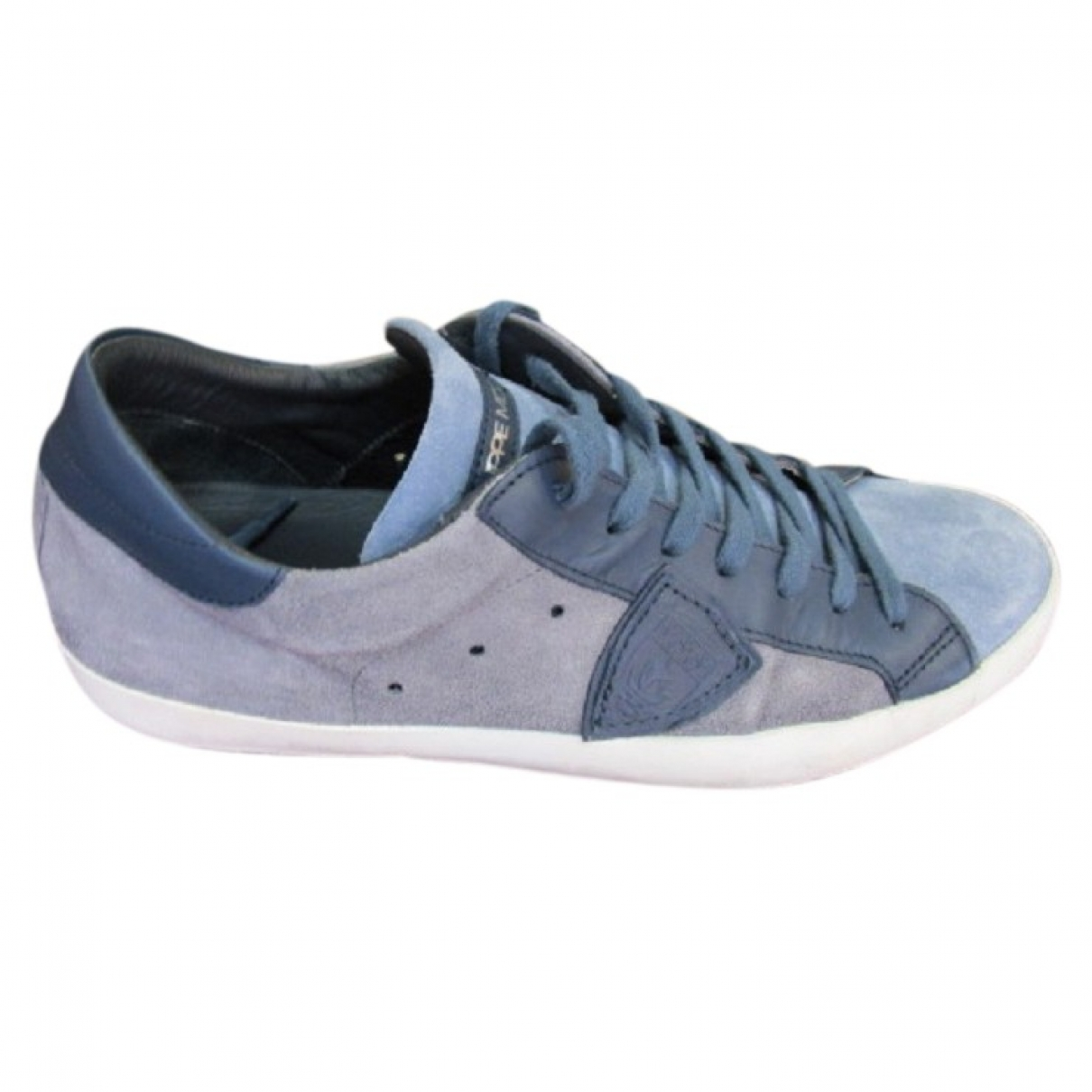 Philippe Model \N Sneakers in  Blau Veloursleder