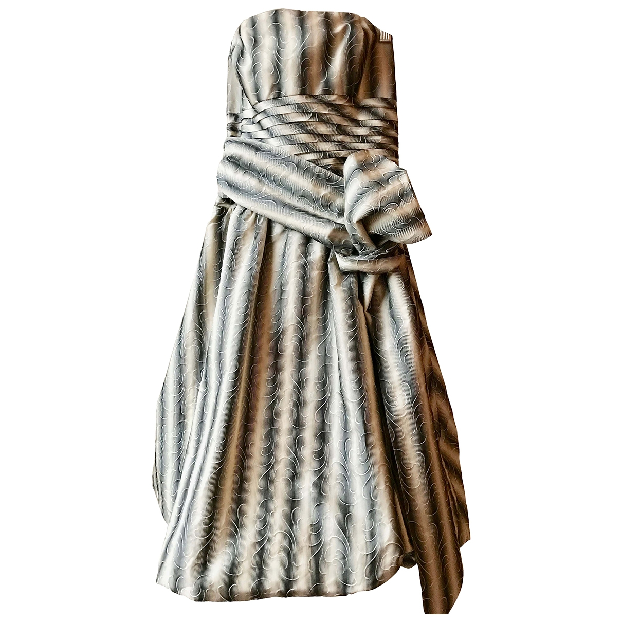 Bcbg Max Azria \N Kleid in  Ecru Seide
