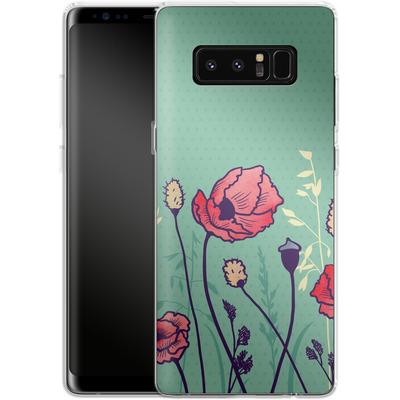 Samsung Galaxy Note 8 Silikon Handyhuelle - Summer Field von Little Clyde