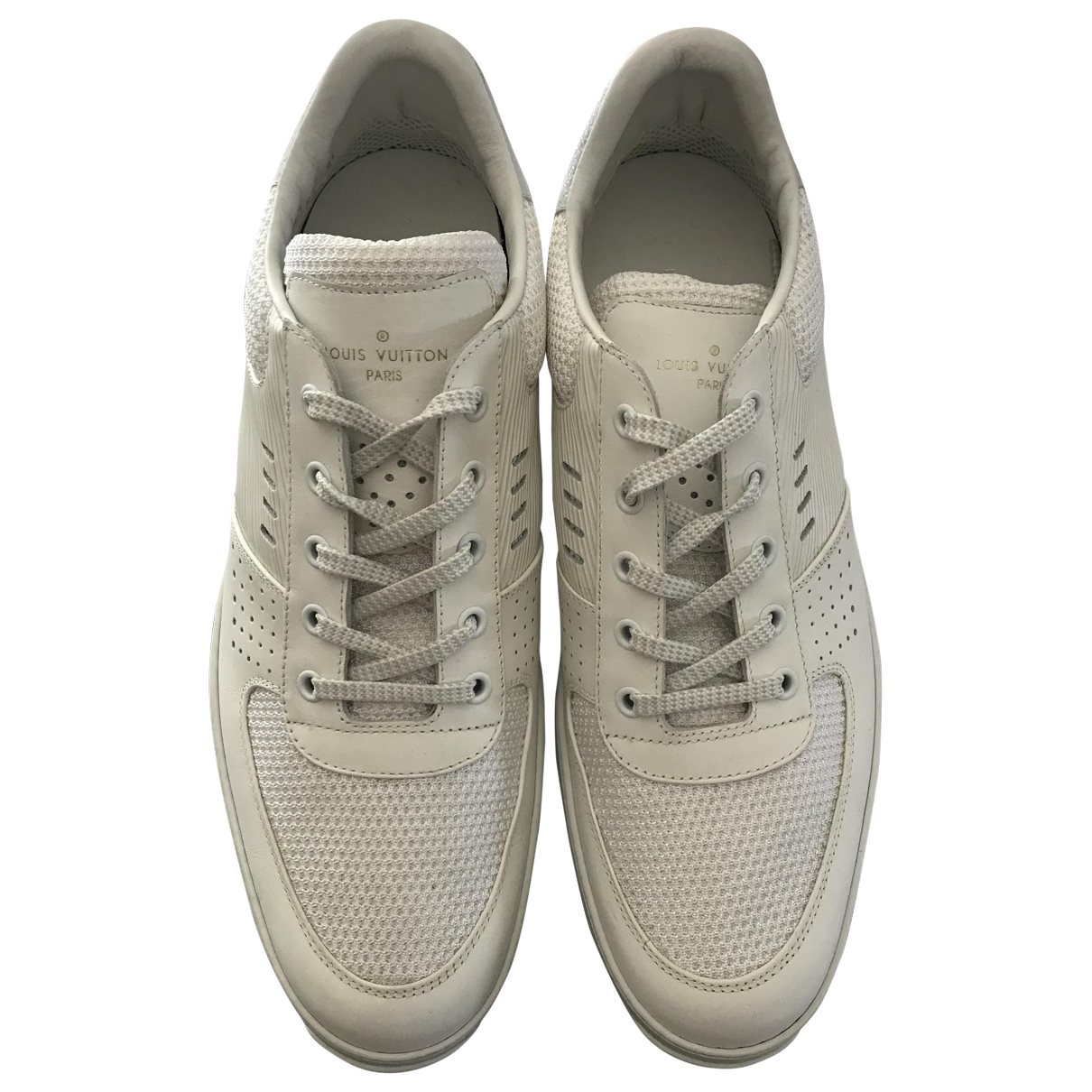 Louis Vuitton Harlem White Leather Trainers for Men 8.5 UK