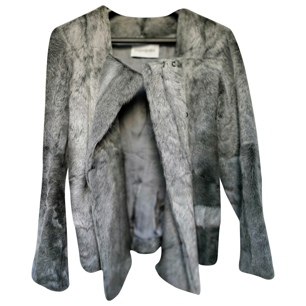 Yves Saint Laurent \N Grey Rabbit jacket for Women 38 FR