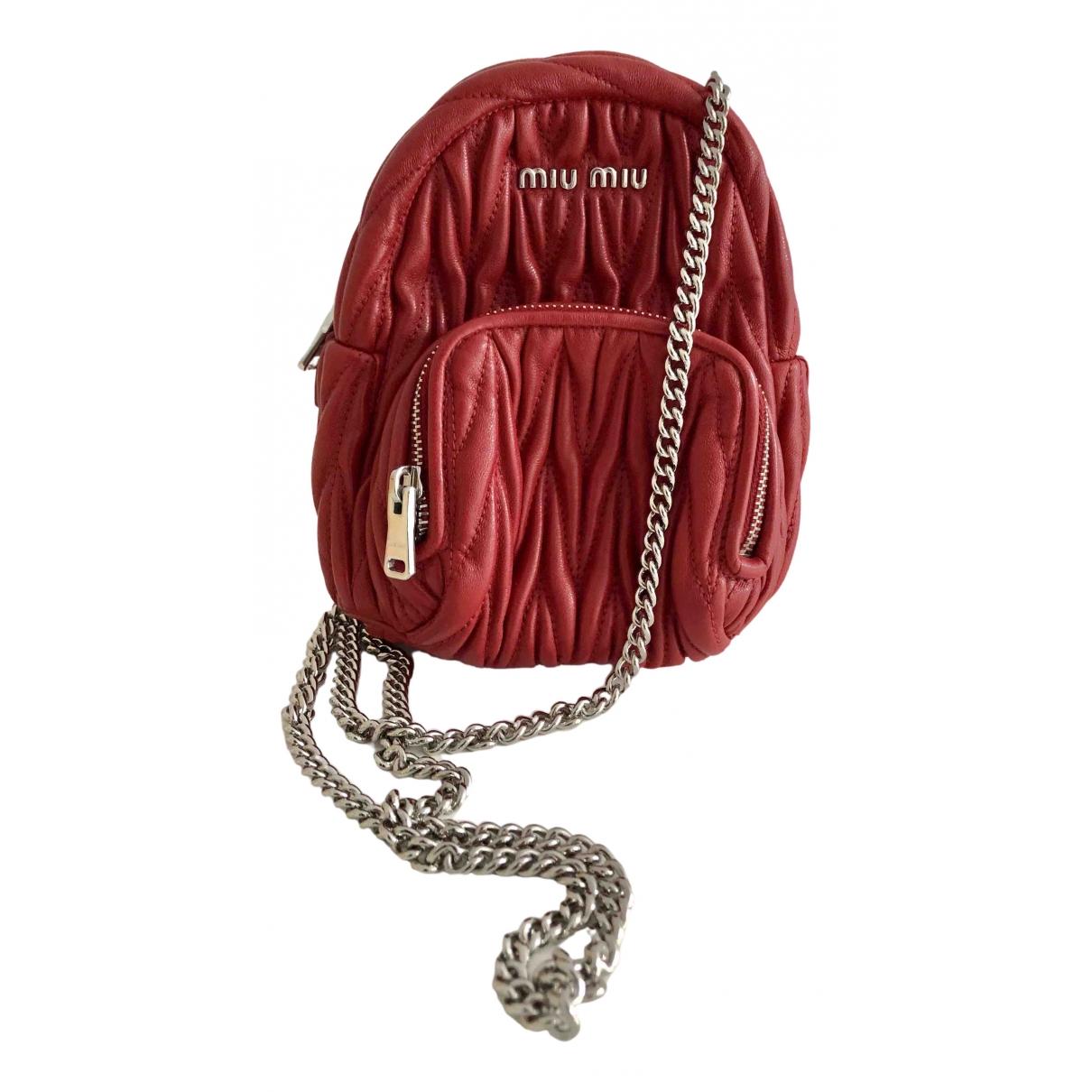 Miu Miu Matelassé Red Leather handbag for Women \N