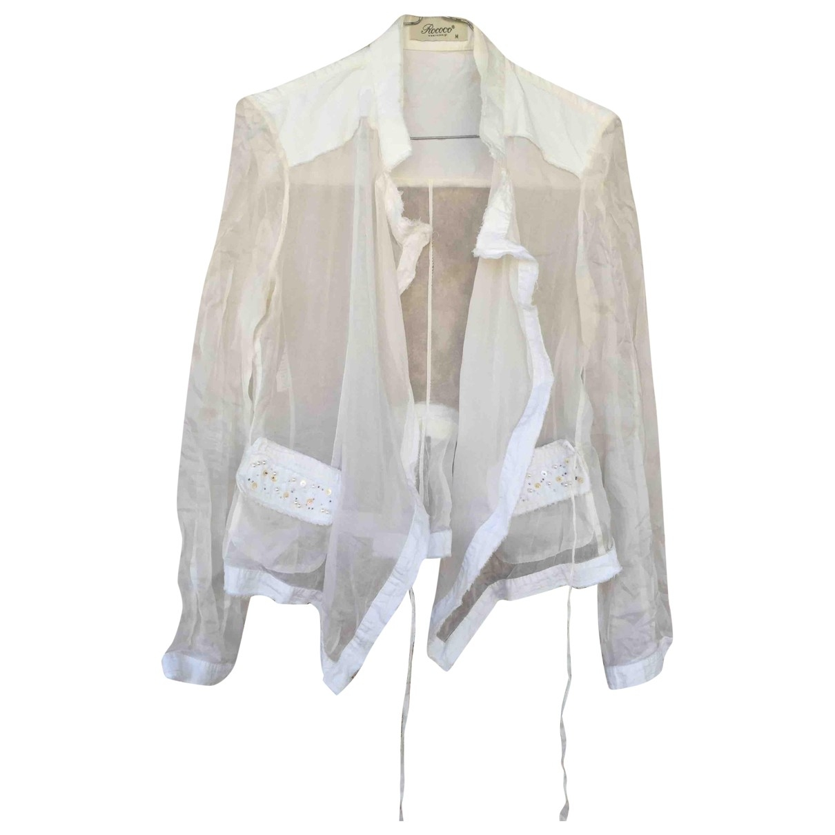 Non Signé / Unsigned \N White Silk jacket for Women M International