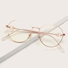Anti-Blaulicht Brille mit metallischem Rahmen