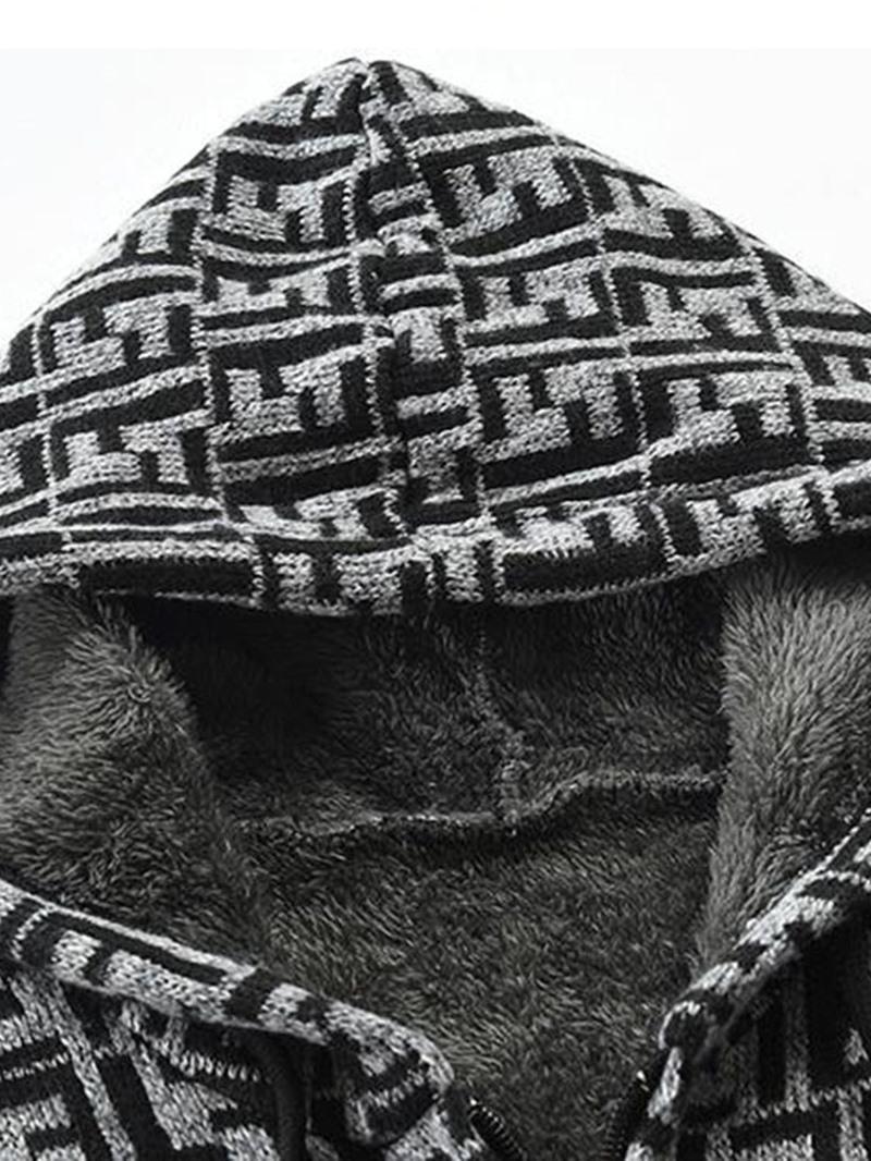 Ericdress Hooded Standard Patchwork Winter Slim Men's Sweater