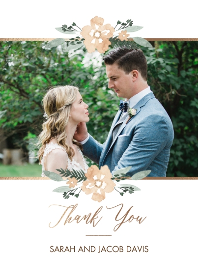 Wedding Thank You 5x7 Cards, Premium Cardstock 120lb with Rounded Corners, Card & Stationery -Lifes Greatest Adventure Thank You