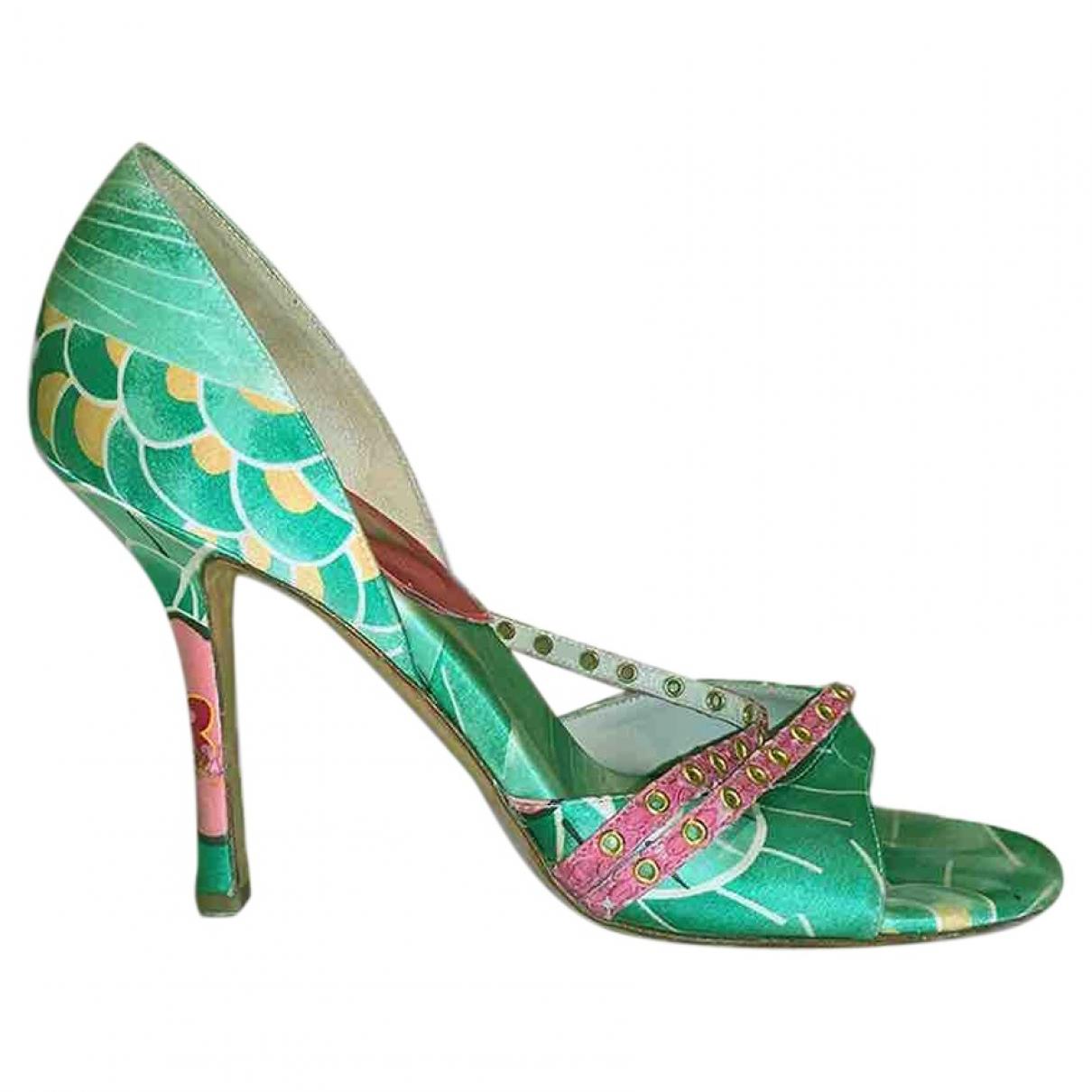 Dior - Sandales   pour femme en toile - multicolore