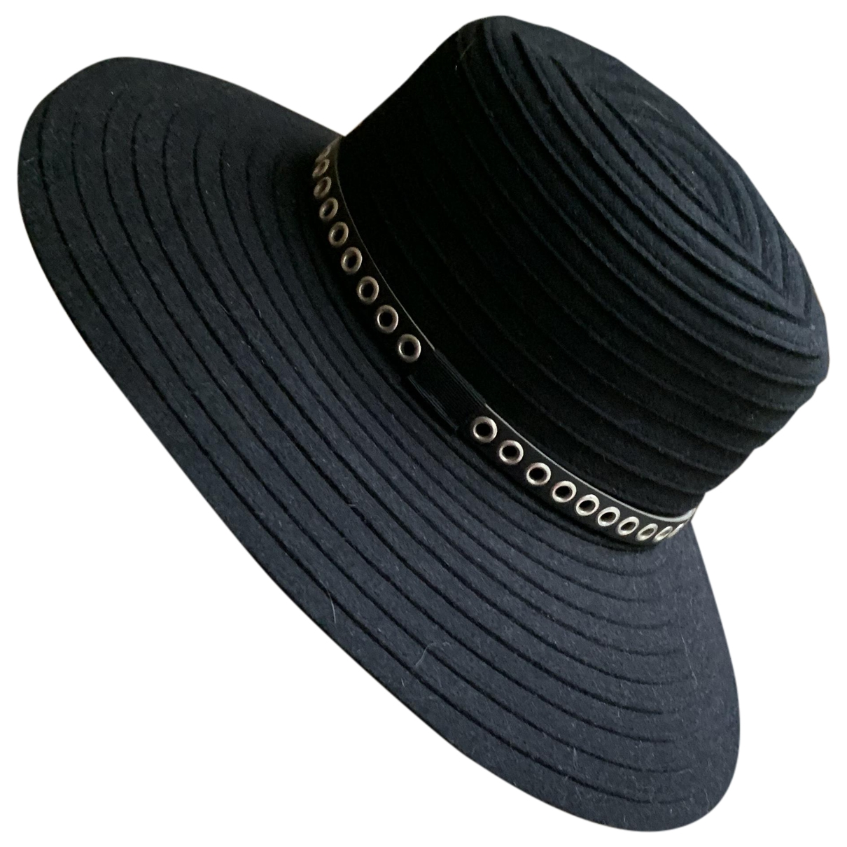 The Kooples Spring Summer 2020 Black hat for Women 55 cm