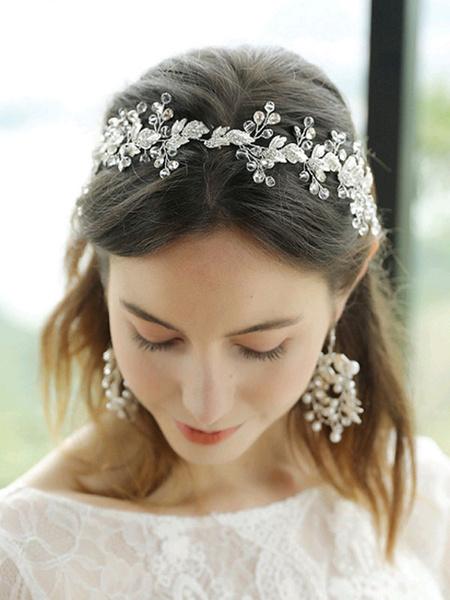 Milanoo Headpiece Wedding Headwear Metal Leaf Hair Accessories For Bride