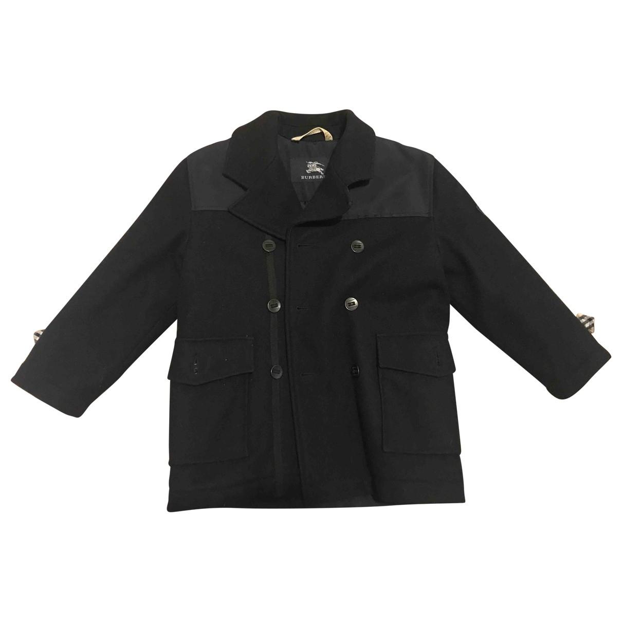 Burberry - Blousons.Manteaux   pour enfant en laine - marine