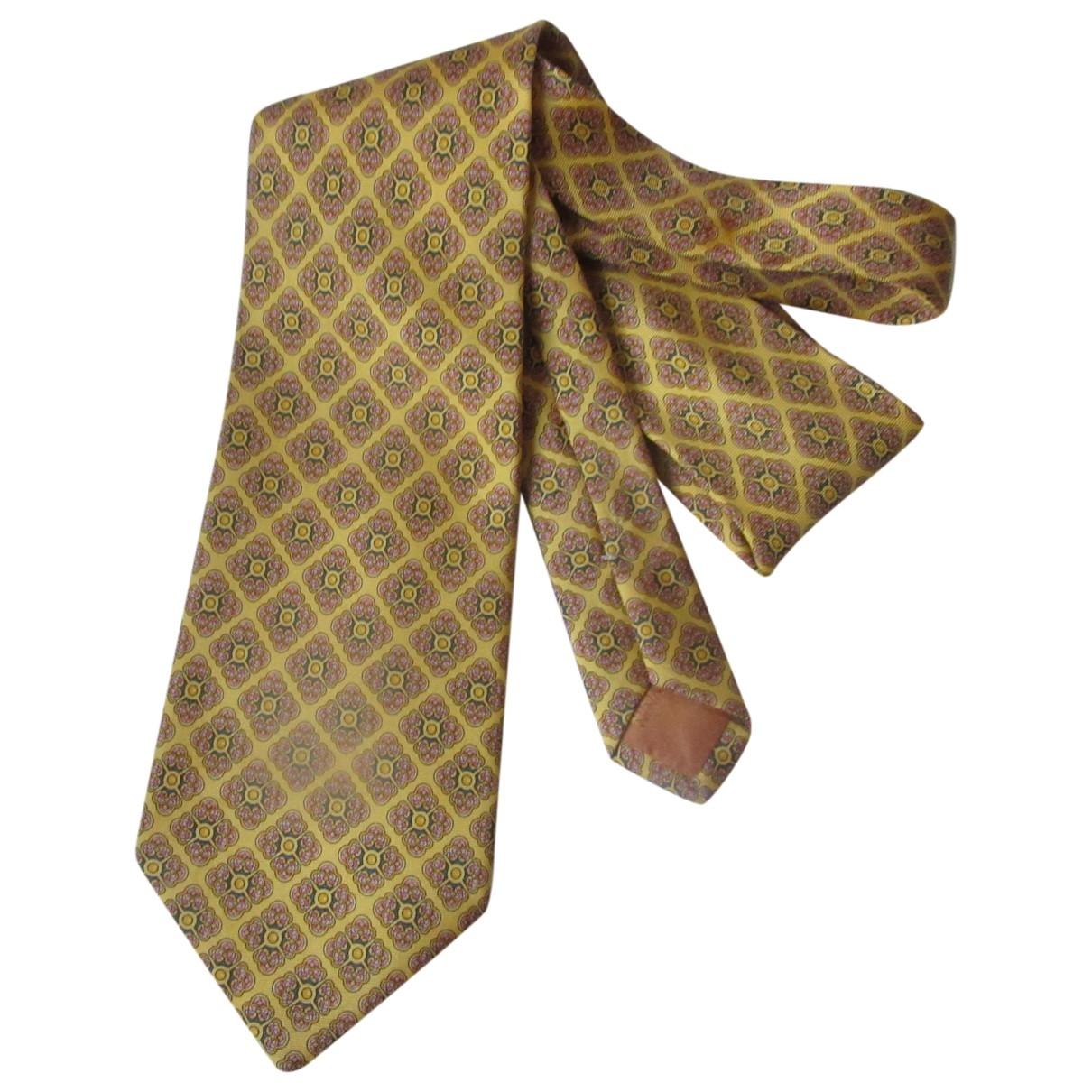 Nina Ricci \N Yellow Silk Ties for Men \N