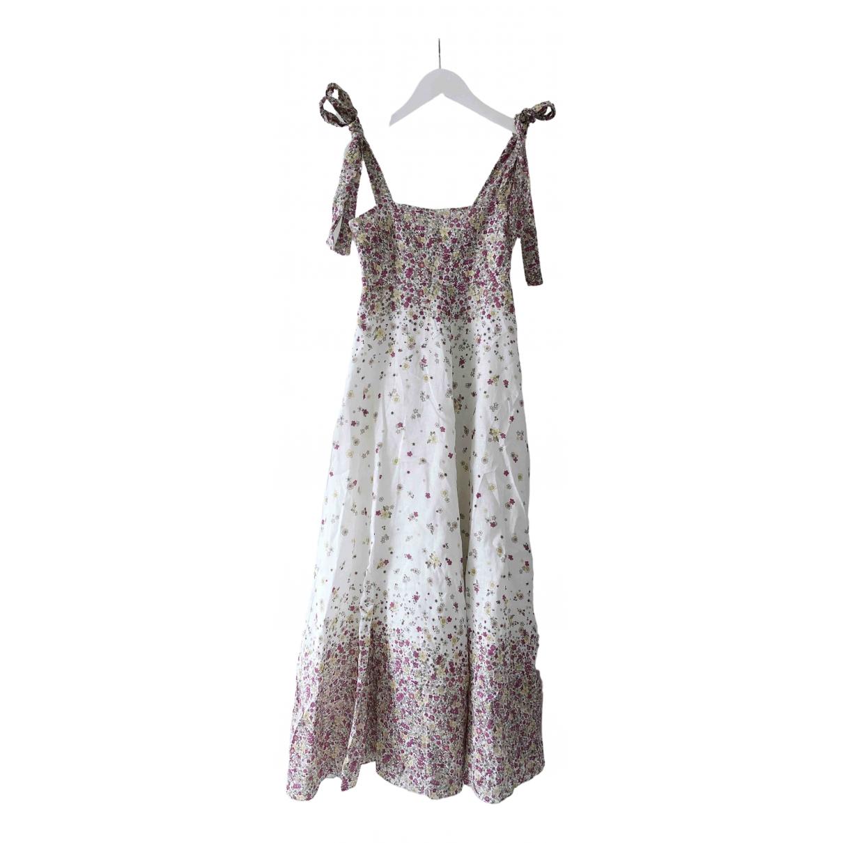 Zimmermann \N Kleid in  Rosa Leinen