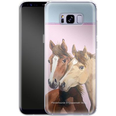 Samsung Galaxy S8 Plus Silikon Handyhuelle - Pferdefreunde Rosa von Pferdefreunde