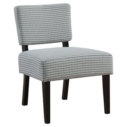 I 8288 Accent Chair - Light Blue / Grey Abstract Dot