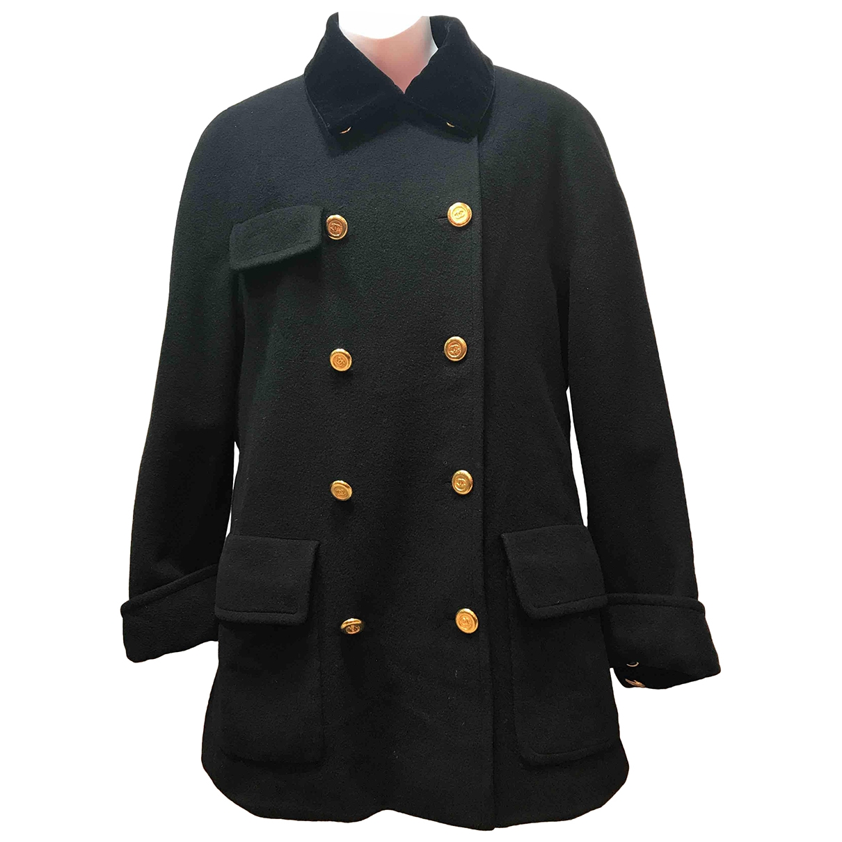 Chanel \N Black Wool coat for Women 12 UK