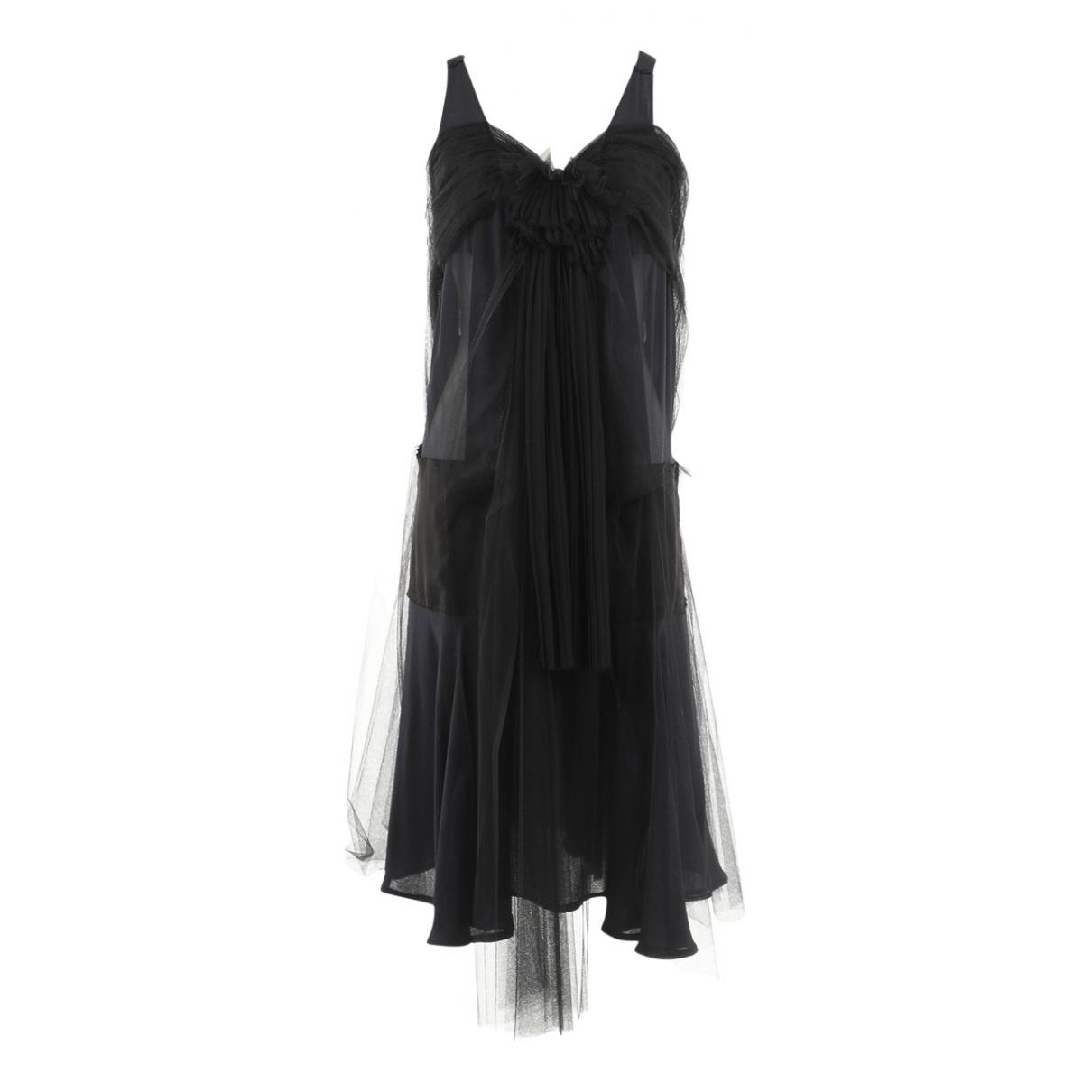 Albino \N Kleid in  Schwarz Seide