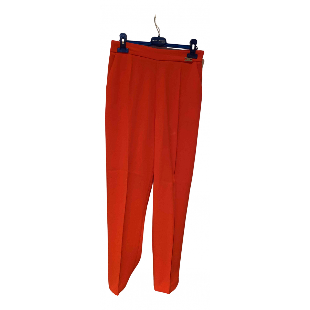 Elisabetta Franchi N Red Trousers for Women 42 IT
