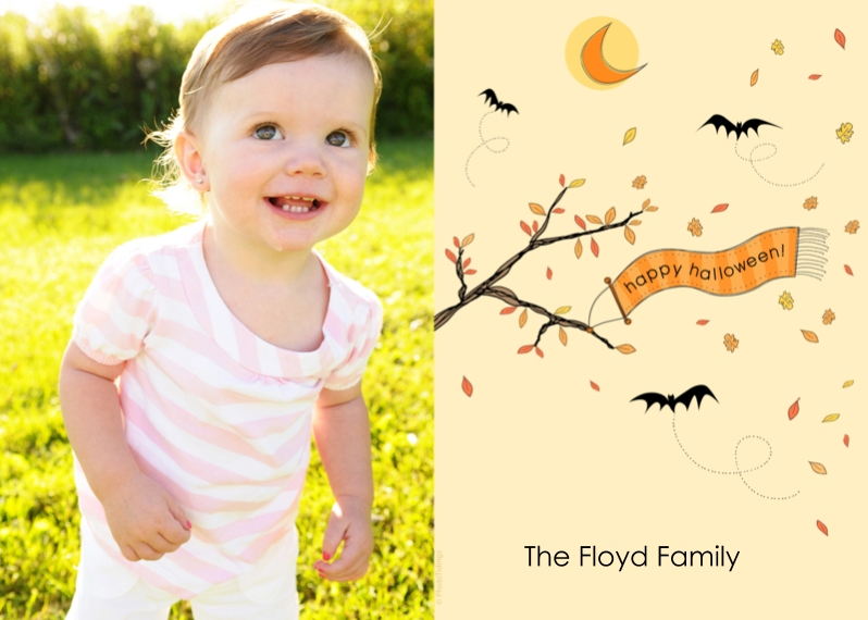Halloween Photo Cards 5x7 Cards, Premium Cardstock 120lb with Scalloped Corners, Card & Stationery -happy halloween!