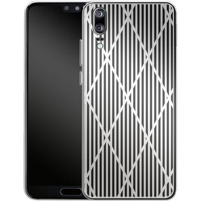 Huawei P20 Silikon Handyhuelle - Black Diamonds von caseable Designs