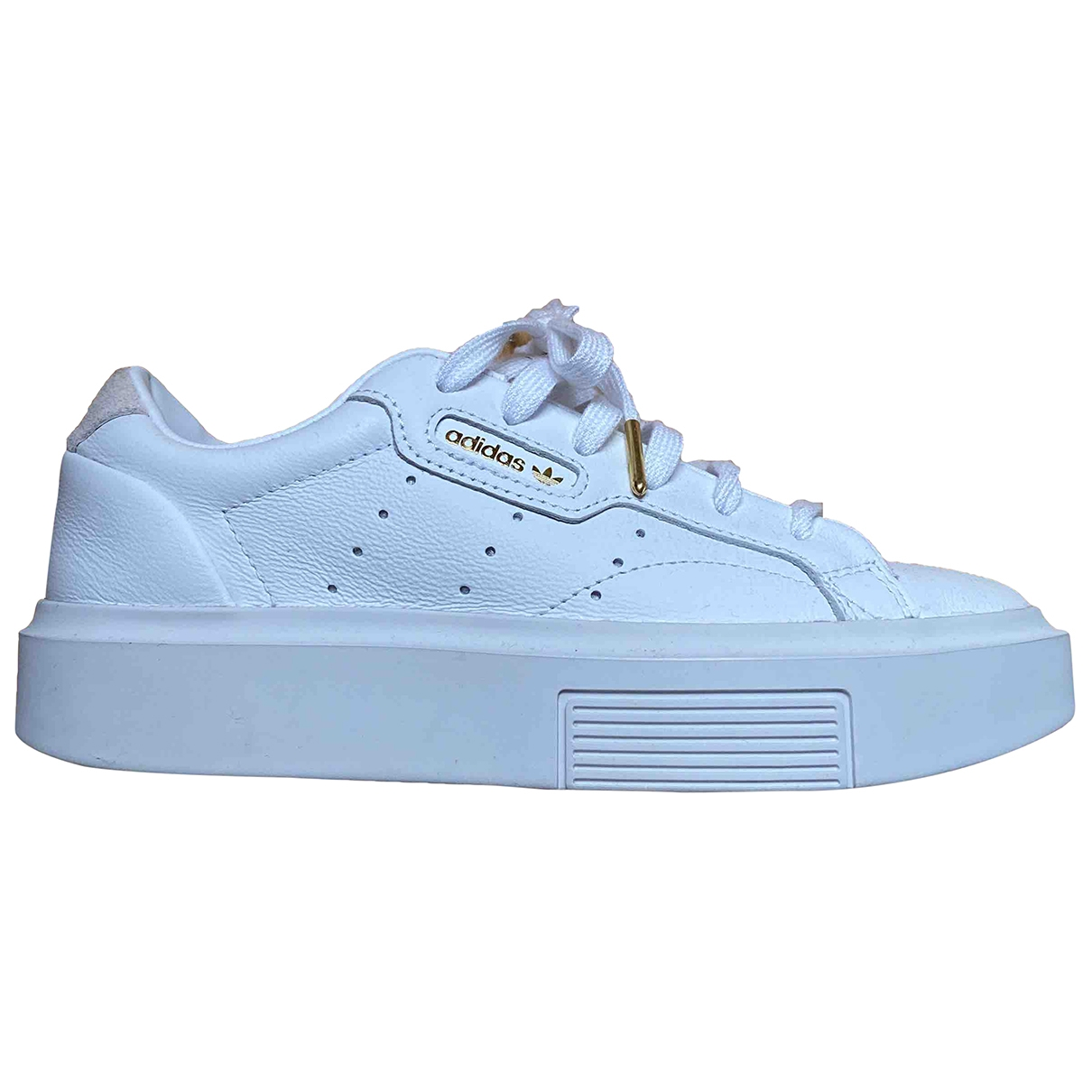 Adidas \N White Leather Trainers for Women 36 EU
