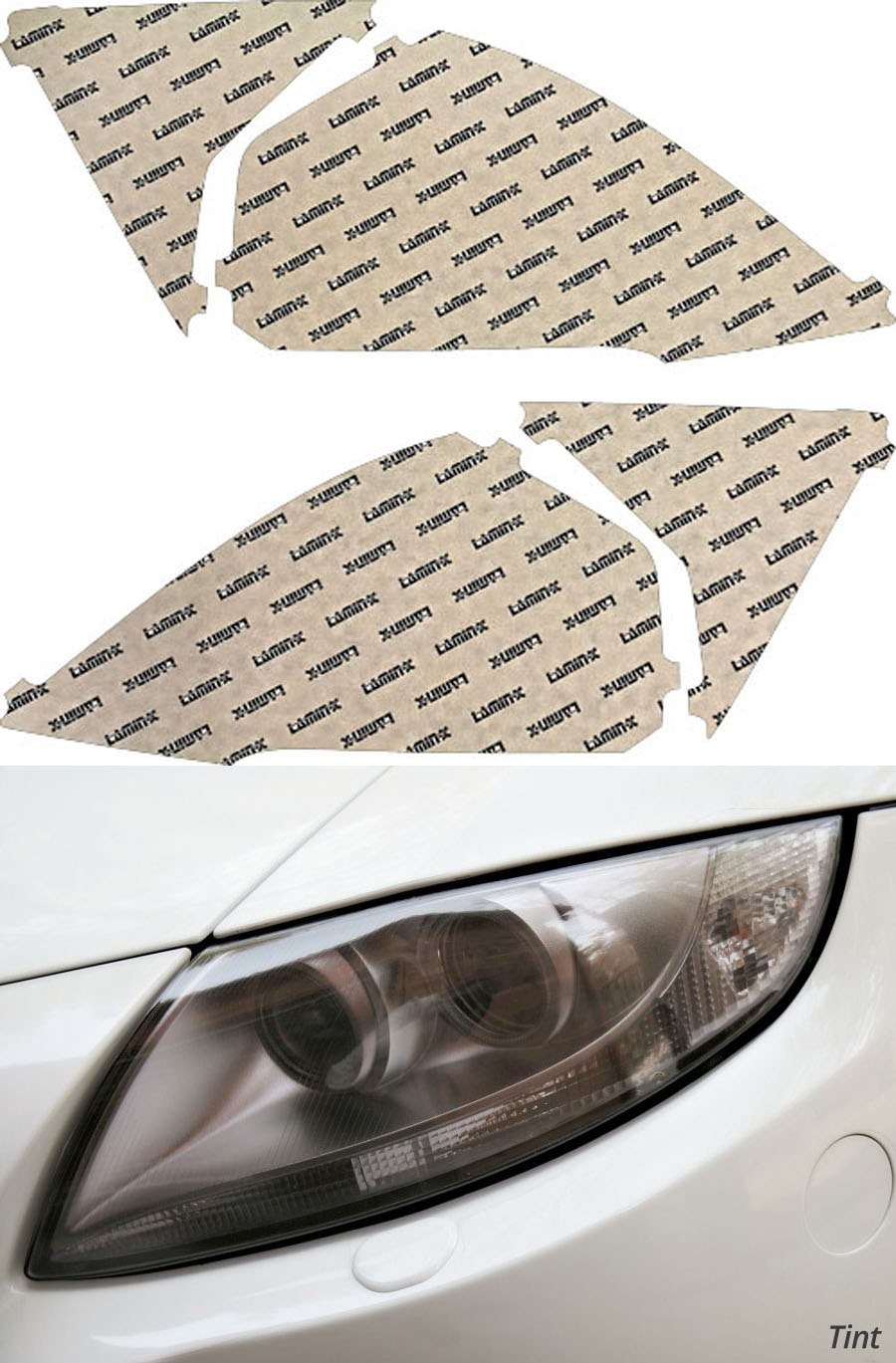 Honda CR-V 10-11 Tint Headlight Covers Lamin-X H038T