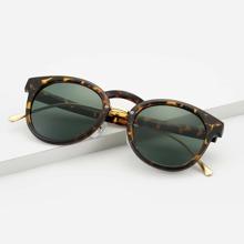 Men Tortoiseshell Frame Sunglasses