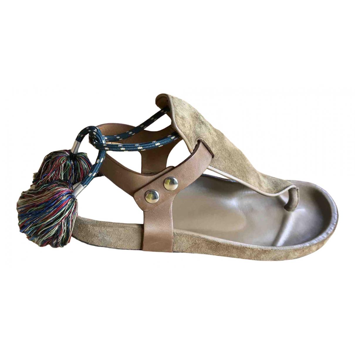 Isabel Marant \N Camel Suede Sandals for Women 37 EU