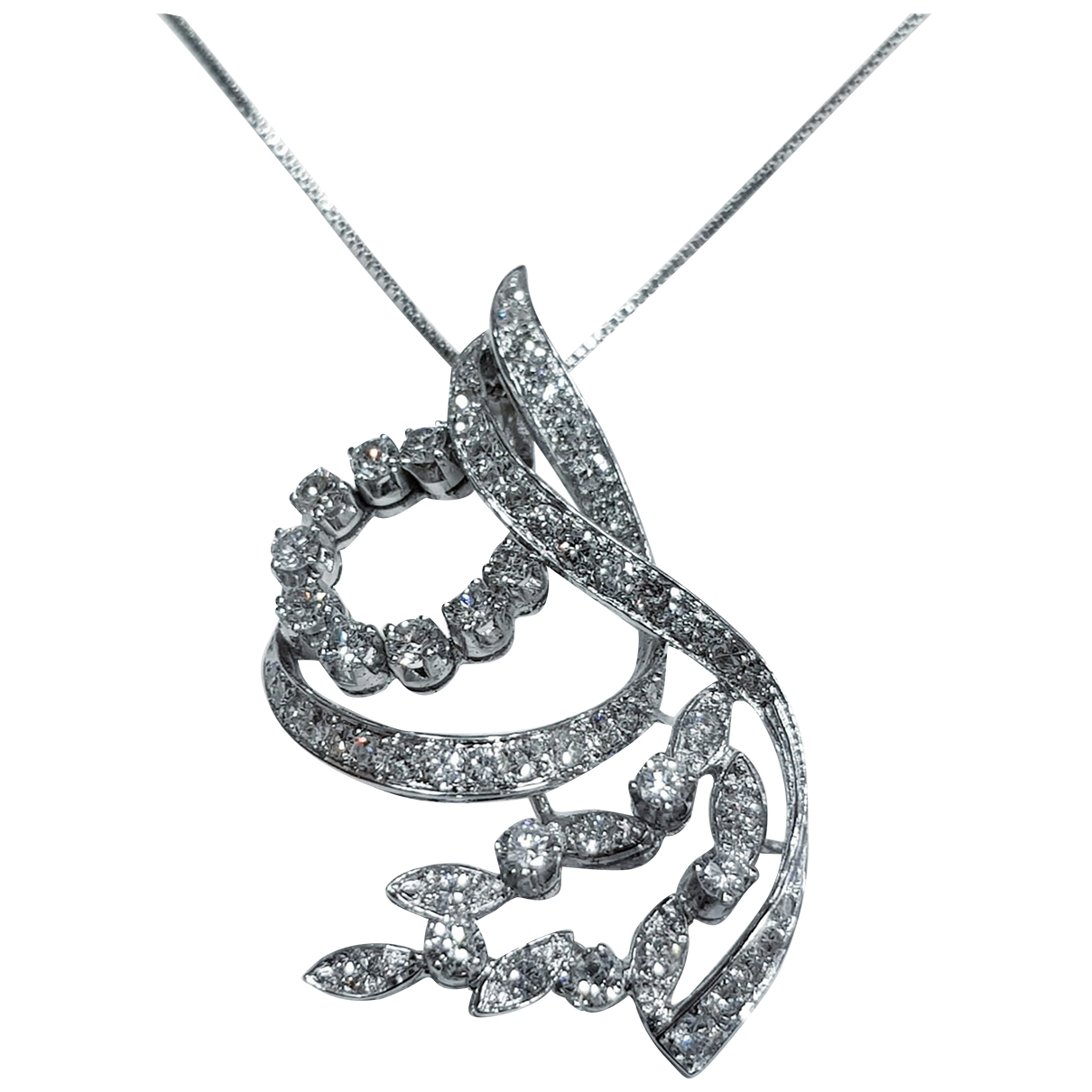 Non Signé / Unsigned \N White White gold necklace for Women \N