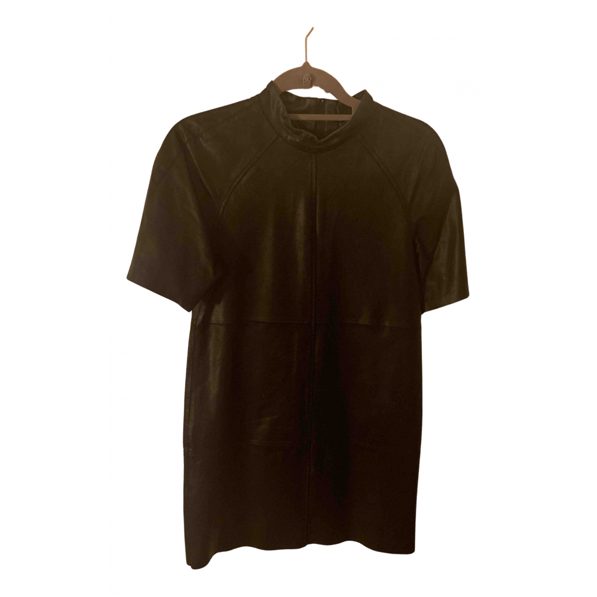 Monki N Black Leather dress for Women 34 FR