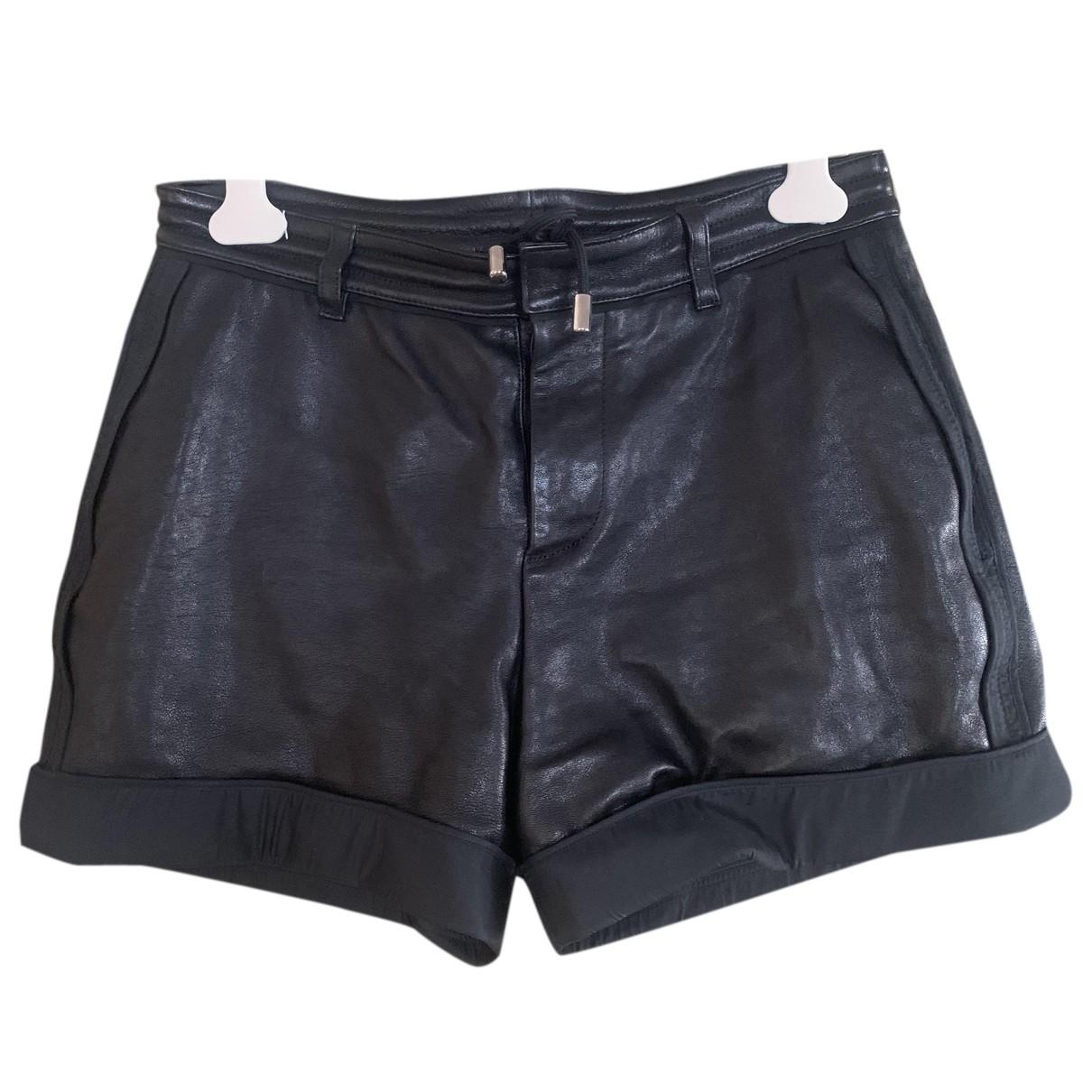 Dsquared2 \N Shorts in  Schwarz Leder