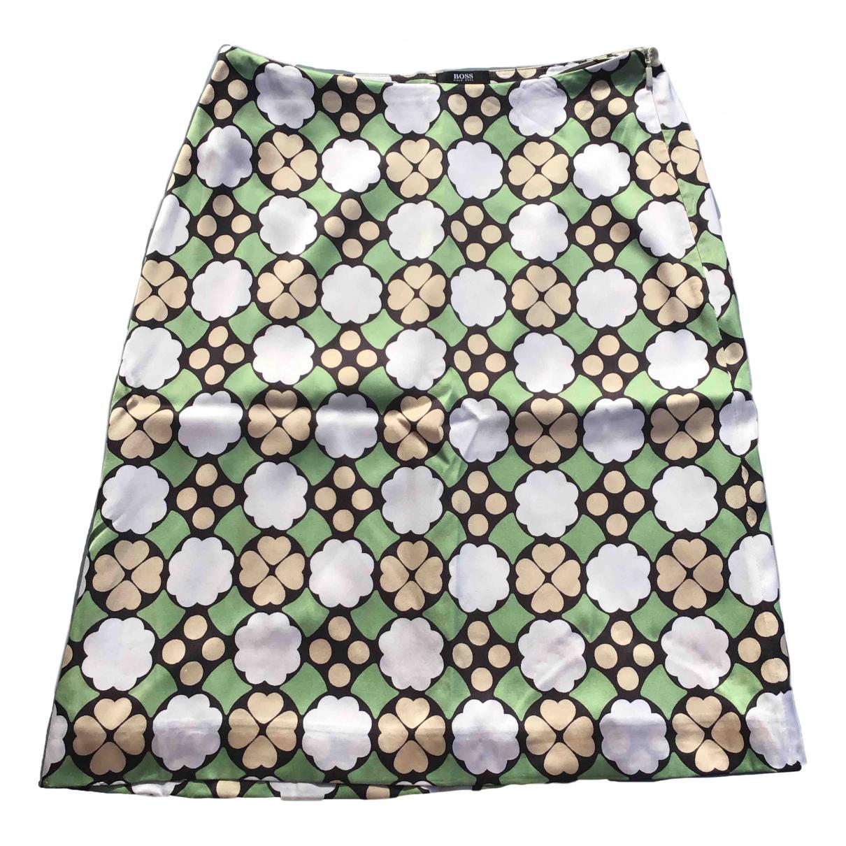 Boss - Jupe   pour femme en soie - multicolore