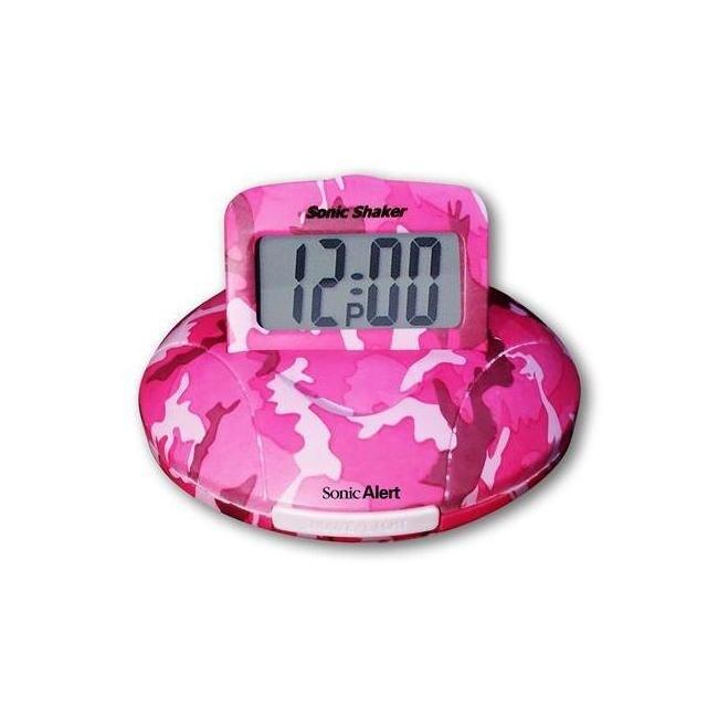 Sonic bomb sbp100c sonic boom alarm clock in pink camo (Pink)